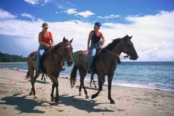 Horse riding on the green paths of Corfu