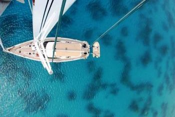 Sailing in the Ionian. The endless blue