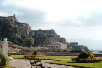 The Corfu Town- The back side of the Fortress