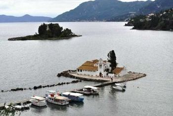 The famous Pontikonissi (Mouse Island)
